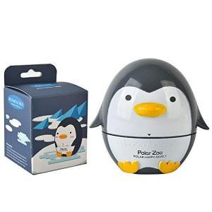 キッチンタイマー アナログ、ゼンマイ式 電池不要ペンギン型、7*7.5cm かわいい 保育園 ダークグレー 勉強 子供 molto-bene