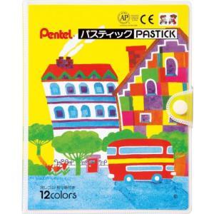 ぺんてる クレヨン色えんぴつ パスティック GC1-12D 12色|molto-bene