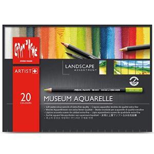 カランダッシュ 色鉛筆 水溶性 ミュージアムアクアレル 20色セット 3510-420 ランドスケープ 紙箱 正規輸入品|molto-bene