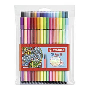 (Assorted Colours Wallet of 30) - STABILO 68 Premium Felt-Tip Pen - Assorte|molto-bene