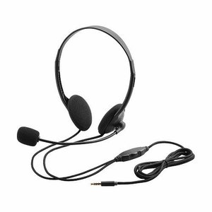 エレコム (まとめ) タブレット用ヘッドセット(両耳小型オーバーヘッドタイプ) HS-HP22TBK (×3セット)|molto-bene