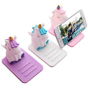スマホスタンド 卓上 かわいい ユニコーン 電話スタンド 携帯スタンド 3個セット 滑り止め 卓上置き簡単 プレゼント 3色 shengo|molto-bene