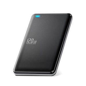 エレコム 外付けSSD ポータブル 120GB USB3.0 USB3.1(Gen1) TLC 小型 軽量 名刺サイズ ブラック ESD-ED0120 molto-bene