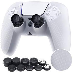ZtotopCase PS5コントローラーカバー シリコン素材 スティックキャップ 10個付き プレイステーション5 コントローラーに対応保護ケース molto-bene