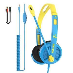 Enfourclass 子供用ヘッドフォン ノイズキャンセリングマイクとボリュームコントロール付き 有線オンイヤー式ヘッドセット 電話 タブレット P|molto-bene