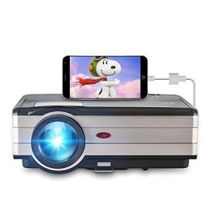 ホームシアタープロジェクター 200インチ大画面 1080P対応 4200ルーメン 映画プロジェクター 内蔵スピーカー 台形補正 スマホ/iPhone molto-bene