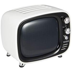Divoom TIVOO レトロTV型モニター搭載 Bluetoothスピーカー [ ホワイト ]|molto-bene