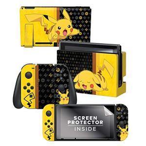 Nintendo Switch 任天堂スイッチ 本体&コントローラー用 スキンシール 液晶保護シール ステッカー ポケモン ピカチュウ 任天堂公式ライ|molto-bene