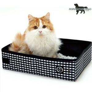 猫壱 ポータブルトイレ(黒) 折り畳み 収納 猫用 防災 災害 避難 レターパック発送可|momo-tail
