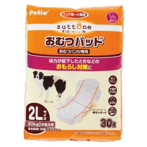 ペティオ ずっとね 老犬介護用 おむつパッド 2L 30枚|momo-tail