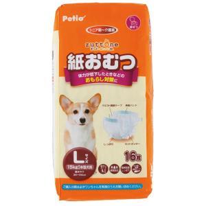 ペティオ ずっとね 老犬介護用 紙おむつ L  16枚|momo-tail