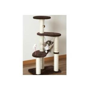 ドギーマン スクラッチリビング ハンモックタワー 組み立て式 [対象:猫]|momo-tail