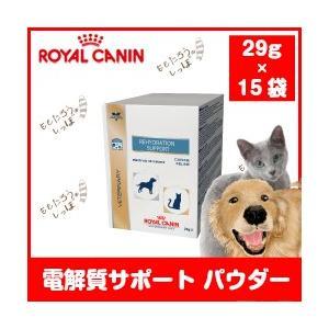 ロイヤルカナン 犬猫用 電解質サポート パウダー 29g×15袋入 ドッグ キャット 経口電解質飲料|momo-tail