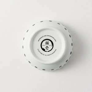 猫壱 ハッピーダイニング フードボウル 水玉 猫用 食器|momo-tail|06
