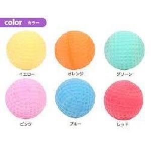 プラッツ PLATZ Rubb'n Roll ソフトラバーボール パピー(ブルー・グリーン・オレンジ・ピンク・レッド・イエロー)6個セット×2 |momo-tail