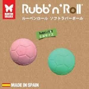 プラッツ PLATZ Rubb'n Roll ソフトラバーボール SM (グリーン・ピンク)2個セット×5|momo-tail