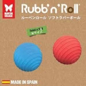 プラッツ PLATZ Rubb'n Roll ソフトラバーボール M (ブルー・レッド)2個セット×5|momo-tail