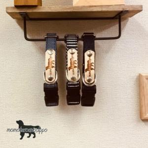 犬首輪 犬 首輪 白壁デニム首輪 倉敷産 デニム(5kg程度の小型犬)|momo-tail