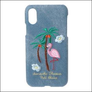c8e9207da4 サマンサタバサ iPhone X対応ケース デニム刺繍ハードケース ブリーチデニム SamanthaThavasaPetitChoice ラッピング無料