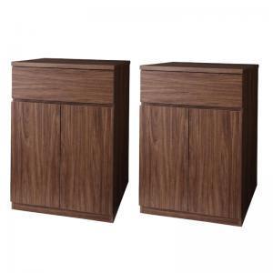 シンプルモダンリビングシリーズ nux ヌクス Bセット キャビネット×2個 momoda