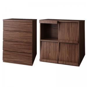 シンプルモダンリビングシリーズ nux ヌクス Fセット チェスト×フラップチェスト momoda