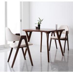 北欧モダンデザインダイニング VILLON ヴィヨン 3点セット(テーブルW80+チェア×2)|momoda