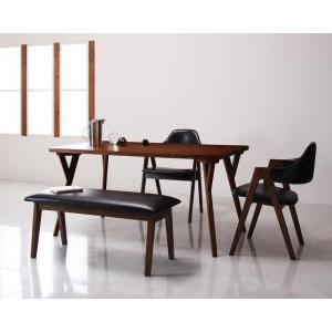 北欧モダンデザインダイニング VILLON ヴィヨン 4点セット(テーブルW140+チェア×2+ベンチ)  代引き不可|momoda