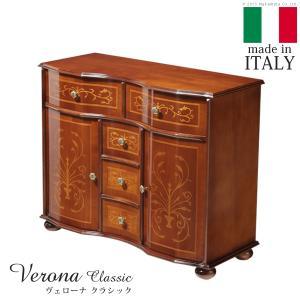 イタリア輸入家具 ヴェローナ クラシック アンティーク調 丸脚キャビネット 代引き不可|momoda