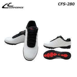 CONFIDENCE (コンフィデンス)  メンズスパイクレスシューズ CFS-280 ホワイト|momoda