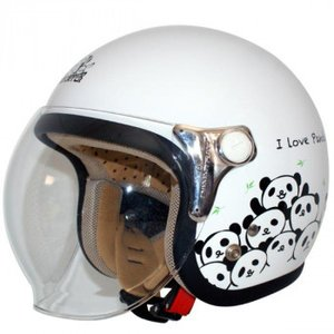 ダムトラックス(DAMMTRAX) カリーナ ヘルメット WHITE/PANDA|momoda
