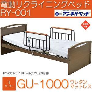 アンネル電動リクライニングベッド RY-001 GU-1000 ウレタンマットレス付 1モーター 組立設置 非課税|momoda