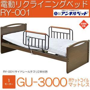 アンネル電動リクライニングベッド RY-001 GU-3000ポケットコイルマットレス付 1モーター 組立設置 非課税|momoda