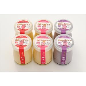 越後村上こだわりスイーツ!焼きいもプリン6個セット(紅芋、絹芋、紫芋の3種×2個入り)|momokawanouen-store