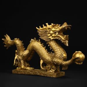 令和 記念 龍 竜の置物 皇帝の五爪龍 単龍 風水 開運 銅製