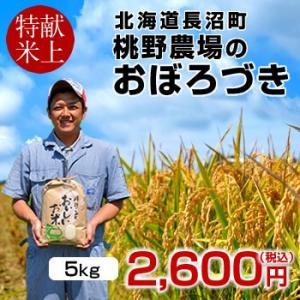 おぼろづき 5kg 新米 令和2年産 2020 北海道米 特A 皇室献上米 生産者 農家直送 長沼町...