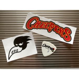 CHEEPERS チーパーズ ステッカー&ピックセット ロゴステッカー(大)+ブラッティステッカー(小)+ピック(白) 3点セット|momonozakkaten
