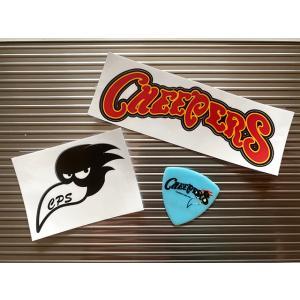 CHEEPERS チーパーズ ステッカー&ピックセット ロゴステッカー(大)+ブラッティステッカー(小)+ピック(青) 3点セット|momonozakkaten