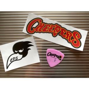 CHEEPERS チーパーズ ステッカー&ピックセット ロゴステッカー(大)+ブラッティステッカー(小)+ピック(ピンク) 3点セット|momonozakkaten