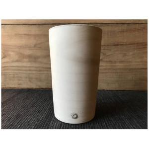 にざまつオリジナル 常滑焼 タンブラー 霞(グレー) 陶器 ビアタンブラー カップ ギフト|momonozakkaten