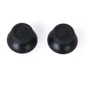 【ノーブランド品】PS4用 コントローラー用サムスティック 交換用 全7色 ブラック
