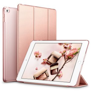 ESR iPad Mini4 ケース クリア iPad Mini4 カバー レザー PU スタンド機...