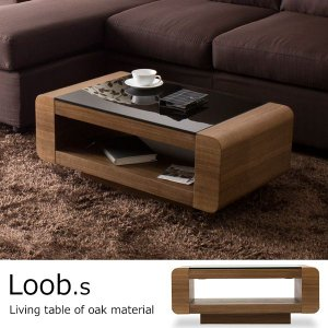 テーブル ローテーブル センターテーブル / Loob.s ウォールナット|momu