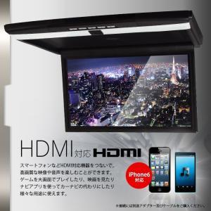 17.3インチ フリップダウンモニター LEDライト付 フルHD 液晶 HDMI RCA 超薄型 軽量 miniHDMI microSD USB IRヘッドフォン対応 FL1731B|mon-etoile|02