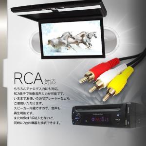 17.3インチ フリップダウンモニター LEDライト付 フルHD 液晶 HDMI RCA 超薄型 軽量 miniHDMI microSD USB IRヘッドフォン対応 FL1731B|mon-etoile|04