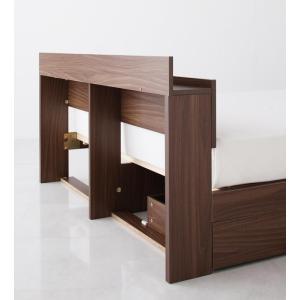 ベッド セミダブルベッド セミダブルサイズ 収納付きベッド ベット ベッドフレームのみ 北欧家具 おしゃれ|mon-tana|02