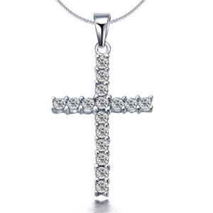 クロス ネックレス ペンダント 十字架 人工ダイヤモンド|monacofashion