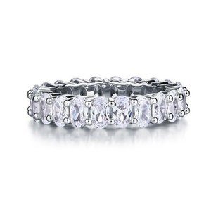 フルエタニティリング エタニティリング オーバルカット キュービックジルコニア 人工ダイヤモンド プレゼント 指輪 リング 安い|monacofashion