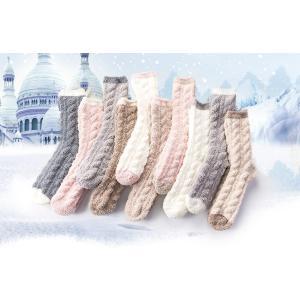 もこもこ靴下 あったか靴下 モコモコ ルームウェア 保温 レディースソックス 冷え取り 防寒 プレゼント 10足セット 靴下|monacofashion