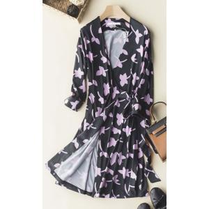 ワンピース ドレス ラップワンピ ラップドレス 春 夏 ブラック パープル カシュクール|monacofashion