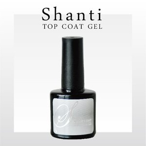 ジェルネイルSHANTI トップコート<BR> 爪にやさしいトップコート UV LEDジェルネイル【LED/UV両対応】 [ベースコート/ソークオフ/クリアジェル/SHANTI]|moncheri-nail